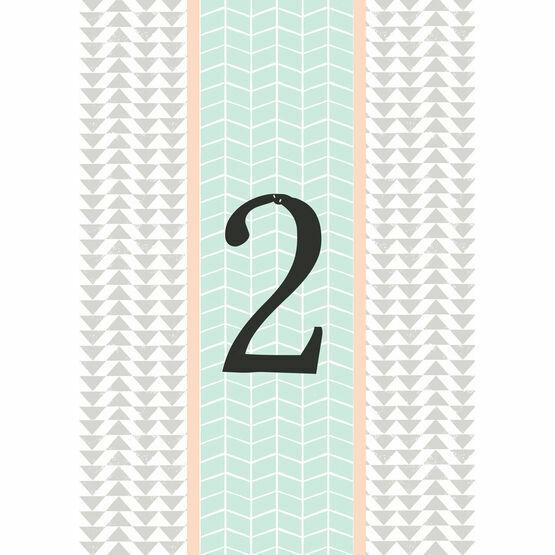 Pastel Bohemian Table Number