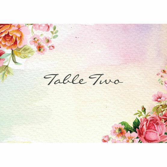 Pastel Watercolour Table Name