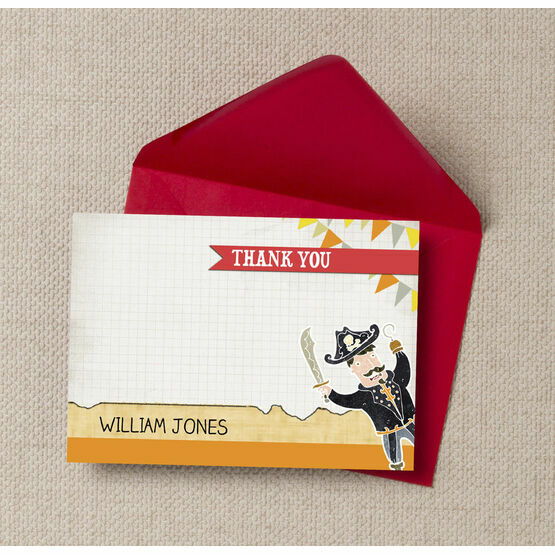 Pirate Party Thank You Cards