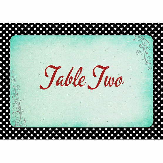 Rockabilly Retro Table Name