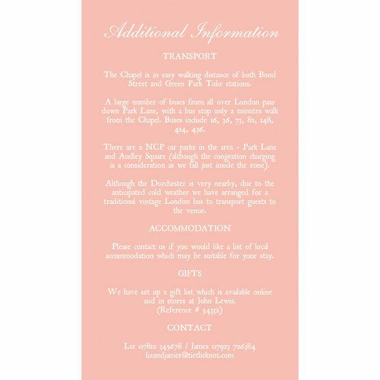 Romantic Lace Guest Information Card
