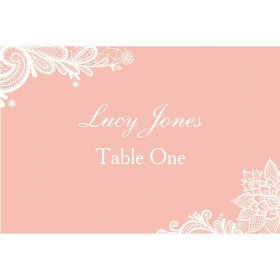Romantic Lace Escort Cards - Set of 8