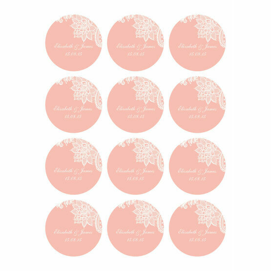 Romantic Lace Stickers - Sheet of 12