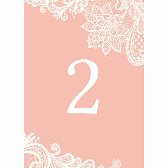 Romantic Lace Table Number