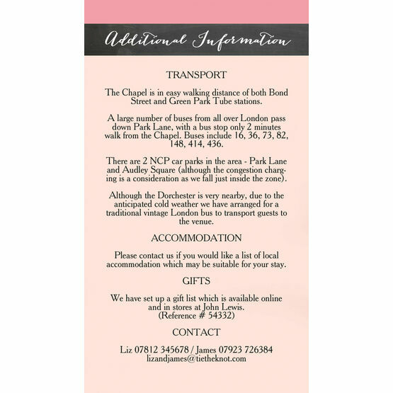 Rustic Floral Guest Information Card