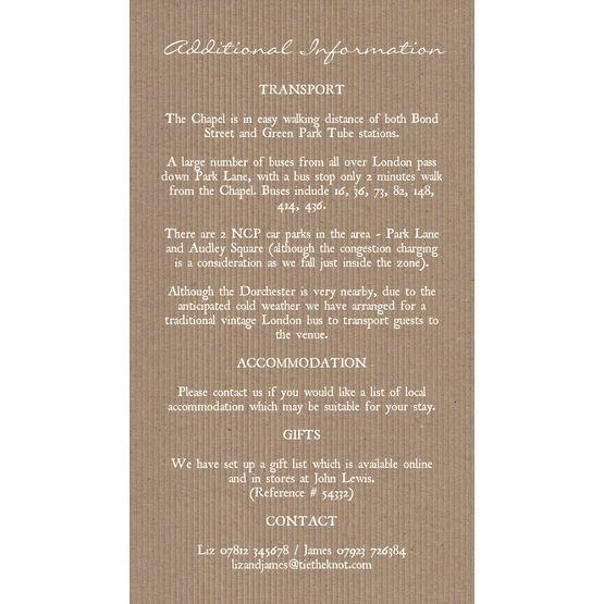 Rustic Lace Guest Information Card