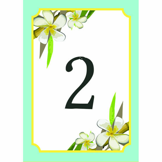 Tropical Beach Table Number