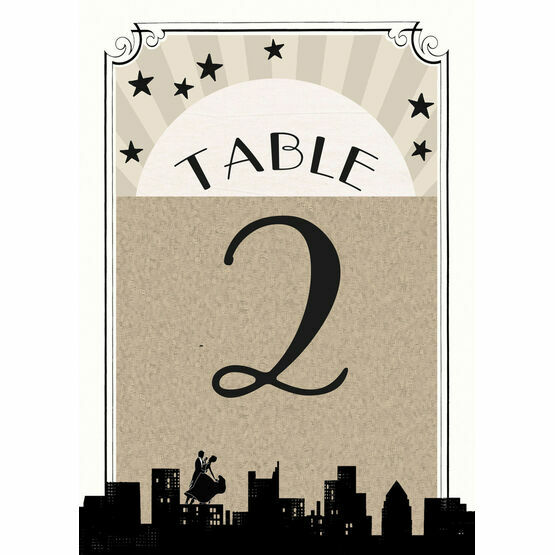 Vintage Hollywood Table Number
