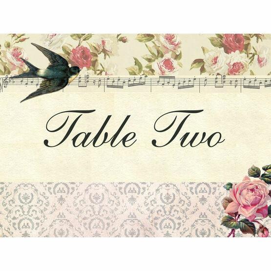 Vintage Scrapbook Table Name